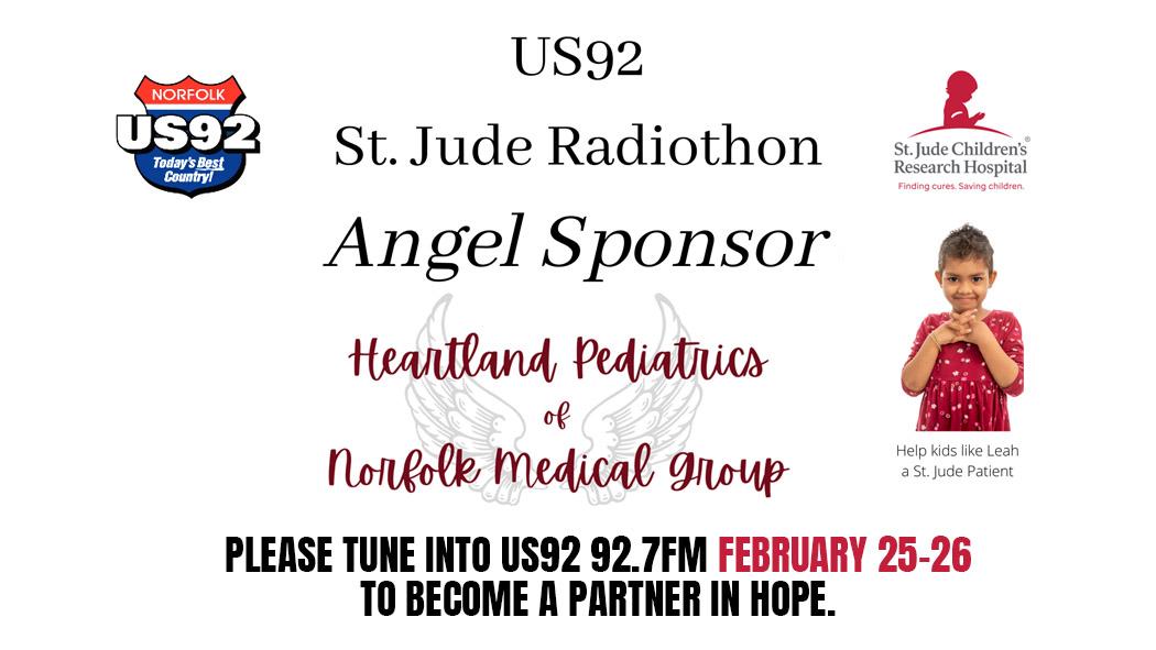 US92 St. Jude Children's Research Hospital Radiothon, FEBRUARY 25-26, 2021